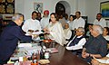 Smt. Najma Heptulla filing the nomination for the Vice Presidential candidature in the presence of the former Prime Minister Shri Atal Bihari Vajpayee and other NDA leaders, in New Delhi on July 23, 2007.jpg
