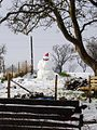 Snowman at Silver Street Farm - geograph.org.uk - 333448.jpg