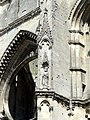Soissons (02), abbaye Saint-Jean-des-Vignes, abbatiale, tour sud, 1er étage, niches à statues à l'angle nord-ouest.jpg
