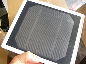 Solar cell phone charger - Image: Solar charger 3