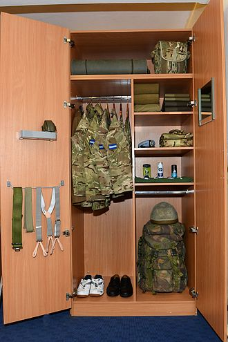Uniforms of the British Army - Soldier's Kit Locker containing general-issue uniform.