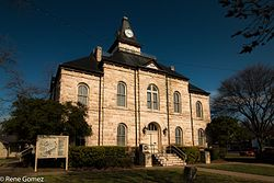 The Somervell County Courthouse in Glen Rose