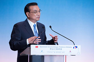 Li Keqiang - July 2015, Li attends the Franco-Chinese economic summit and delivers a speech.