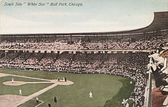 "History of the Chicago White Sox - Comiskey Park, then known as ""White Sox Park,"" in the early 1910s"