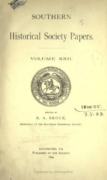 Southern Historical Society Papers volume 22.djvu
