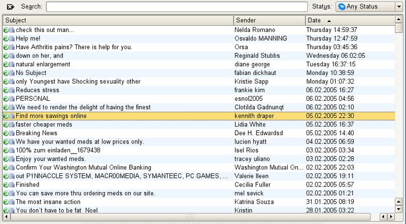 Inbox cheia de SPAM! (Click para ver melhor)