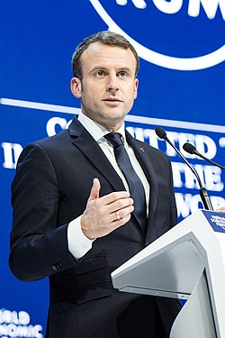 File photo of Macron Image: Foundations World Economic Forum.