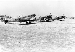 No. 249 Squadron RAF - 249 Sqn Spitfire VC at RAF Ta Kali, Malta, in 1942.