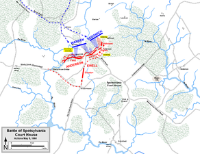 Attacks on the Laurel Hill line, May 8