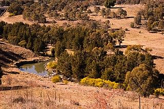Tuggeranong Creek river in Australia