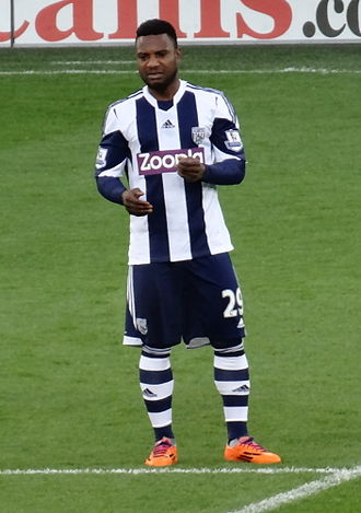 Stéphane Sessègnon - Sessègnon playing for West Bromwich Albion in 2013