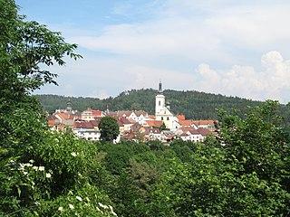 Stříbro Town in Plzeň, Czech Republic