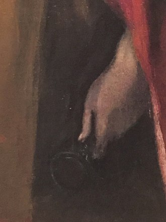 Saint Peter and Saint Paul (El Greco) - Detail of Saint Peter and Saint Paul, by El Greco, showing the hand of Peter holding the keys of heaven.