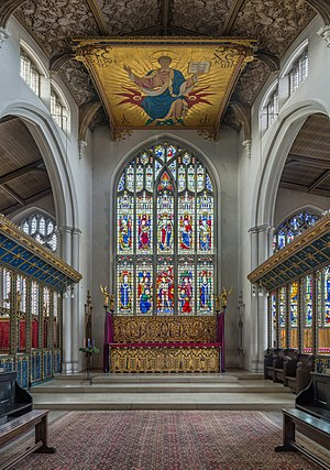 St Cyprian's, Clarence Gate - Image: St Cyprian's Church Sanctuary, Clarence Gate, London, UK Diliff