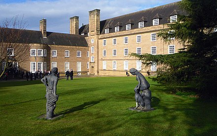 The lawn at St Mary's College, the first of the Hill colleges St Mary's College Lawn.jpg
