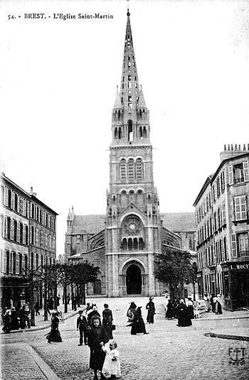 Église Saint-Martin vue de la rue Jean Jaurès