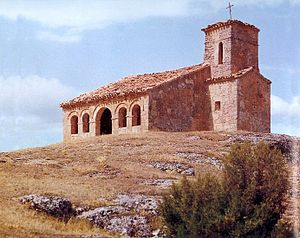Repoblación art and architecture - Hermitage of Santa Cecilia at Barriosuso (Province of Burgos).