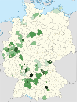 Greeks in Germany - Distribution of Greek nationals in Germany