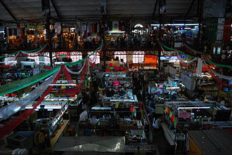 Popular fixed markets in Mexico - Overview of stands in the Hidalgo Market in the city of Guanajuato.