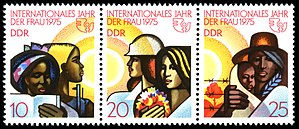 International Women's Year - Stamps of the German Democratic Republic: Women of different nations, Logo of the UN