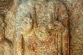 Standing Buddha Triad Carved on the Rock in Donmun-ri, Taean 07.JPG