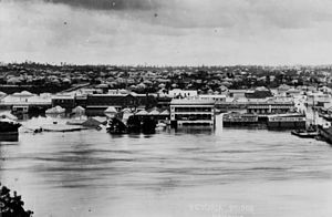 History of Queensland - South Brisbane during the 1893 Brisbane flood