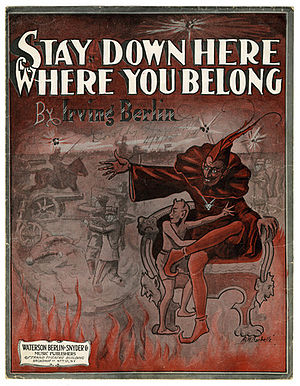 Stay Down Here Where You Belong - Image: Stay Down Here Where You Belong Irving Berlin