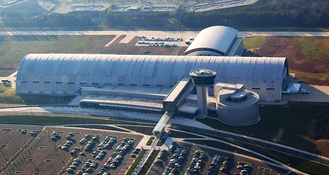 Steven F. Udvar-Hazy Center - Aerial view of the Steven F. Udvar-Hazy Center in 2004
