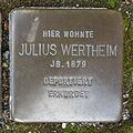 Stolperstein Bad Bentheim Schlossstraße 15 Julius Wertheim.JPG