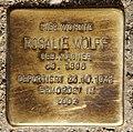 Stolperstein Hochstr 20 (Gesbr) Rosalie Wolff.jpg