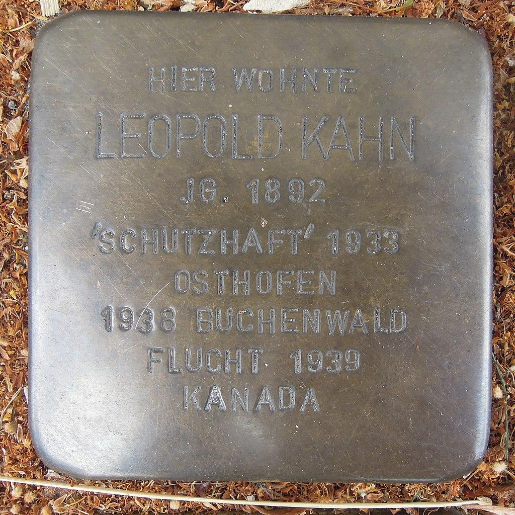 Stolperstein für Leopold Kahn