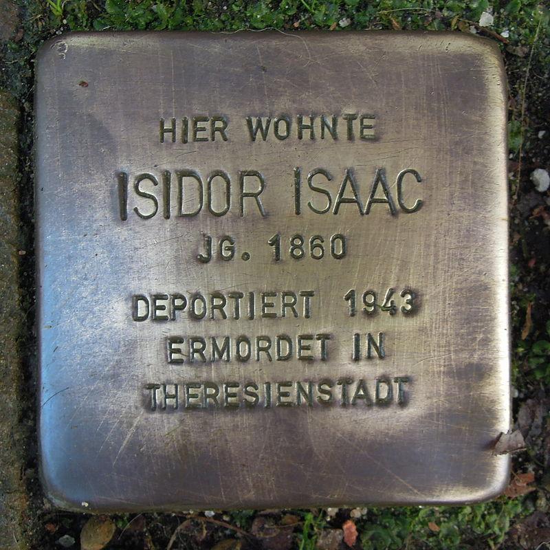 Stolperstein für Isidor Isaac