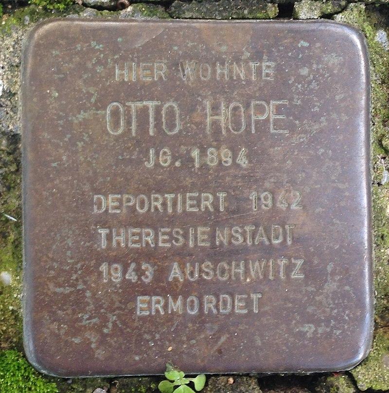 Stolperstein Verl Sankt-Anna-Straße 15 Otto Hope