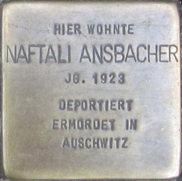 File:Stolperstein Würzburg Ansbacher Naftali.jpeg