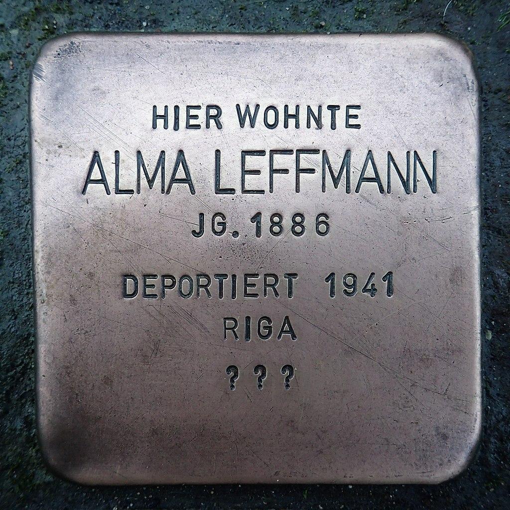 Stolperstein für Alma Leffmann