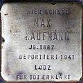 Stolpersteine Köln, Max Kaufmann (Kartäuserwall 7).jpg