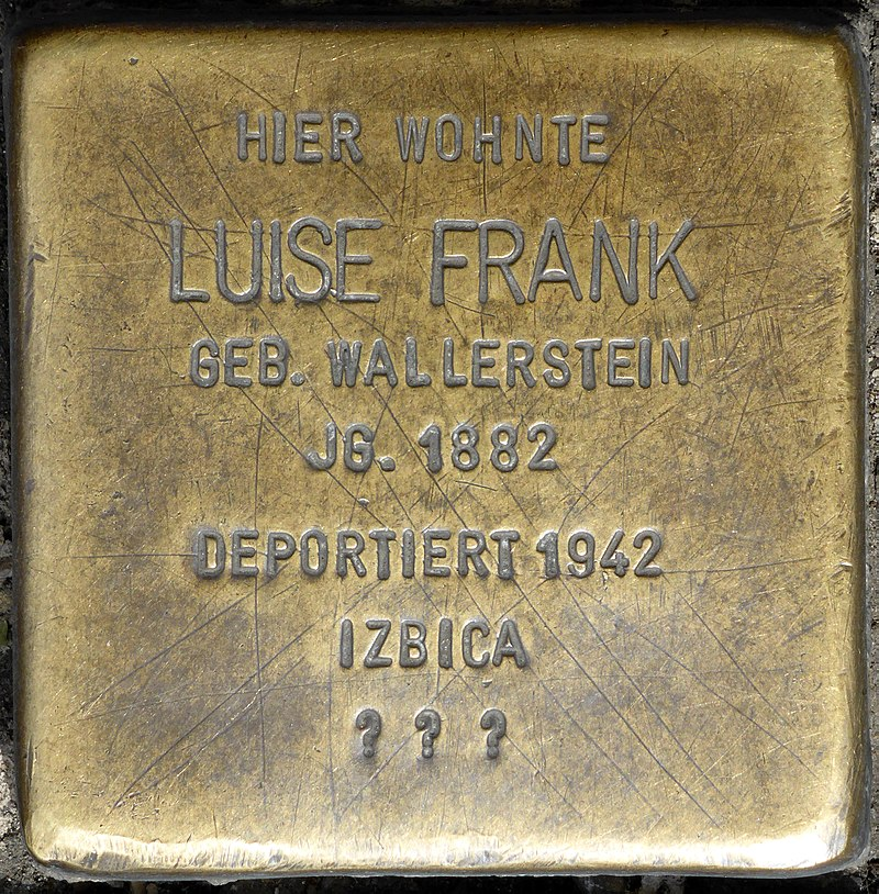 Stolperstein für Luise Frank (Friedrichstraße/Ecke St. Anton-Straße)