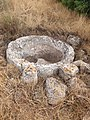 Stone water trough at the Adullam ruin.jpg