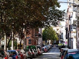 Wiesbaden-Westend - Typical street in Westend