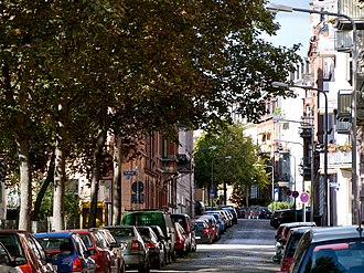 Wiesbaden-Westend - Typical street in Westend