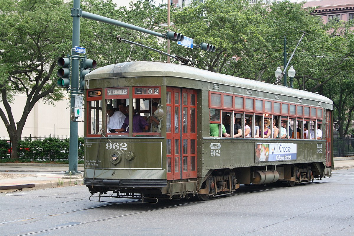 Streetcars In New Orleans Map.St Charles Streetcar Line Wikipedia