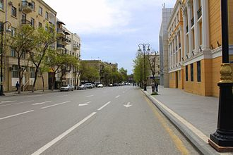 Rashid Behbudov Street - Image: Streetinbaku
