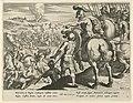 Strijd tussen Jefta's leger en de Ammonieten Geschiedenis van Jefta (serietitel), RP-P-1904-3382.jpg