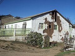 House damaged by the Pichilemu earthquake, in the epicentre town, as seen on 16 April 2011.
