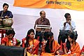 Student perform on Pohela Falgun celebration at Muktamancha in University of Chittagong (04).jpg