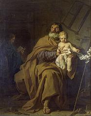 Saint Joseph tenant l'Enfant Jésus