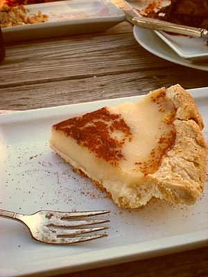 Sugar pie - A slice of sugar cream pie