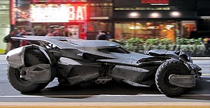 Suicide Squad (film) - Filming of the Batmobile in a chase sequence on Yonge Street in Downtown Toronto, May 2015