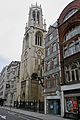 Sunday Post building and St Dunstan-in-the-West, Fleet Street, London.jpg