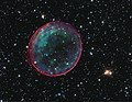 Supernova Bubble Resembles Holiday Ornament- A supernova in the Large Magellanic Cloud, which lies about 160,000 light years from Earth. (5393241197).jpg